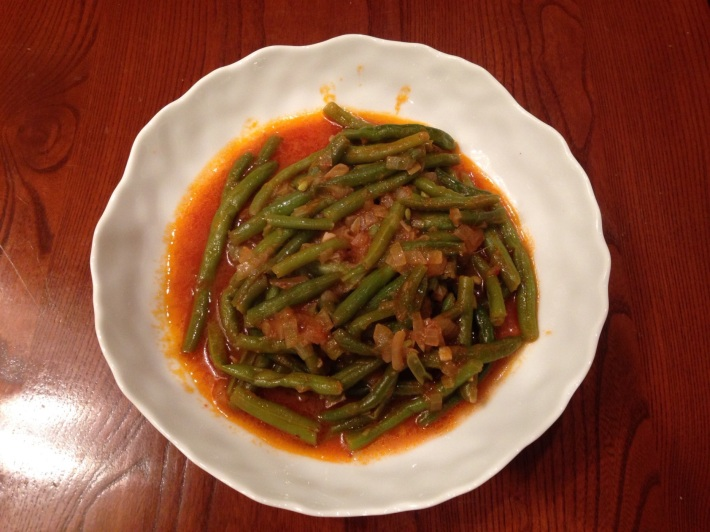 Green Beans With Tomato And Olive Oil - Fasulia
