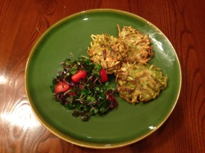 Celery Root and Leek Fritters