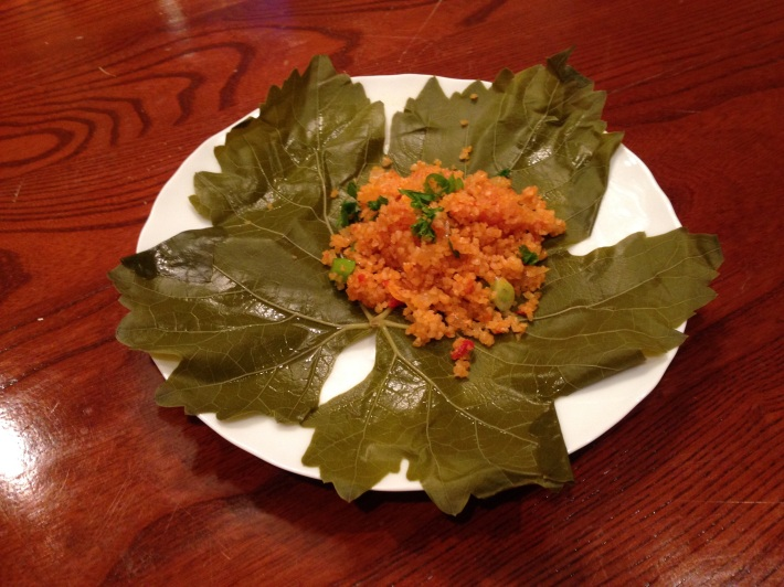Bulgur Wheat Salad With Vine Leaves