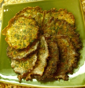Parsley Omelet Fritters - Ejjeh