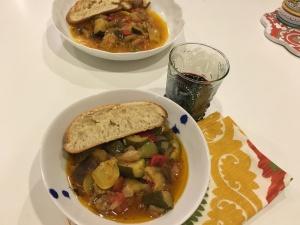 Ratatouille - Eggplant, Zucchini, Green Pepper Stew