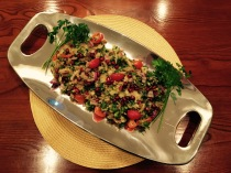 Momma Anita's Armenian Eggplant and Pomegranate Salad