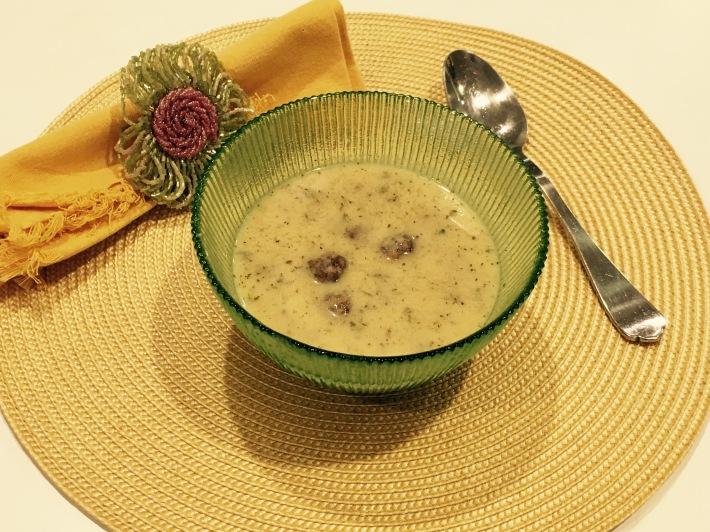 Minty Yogurt Soup With Bulgur Meatballs