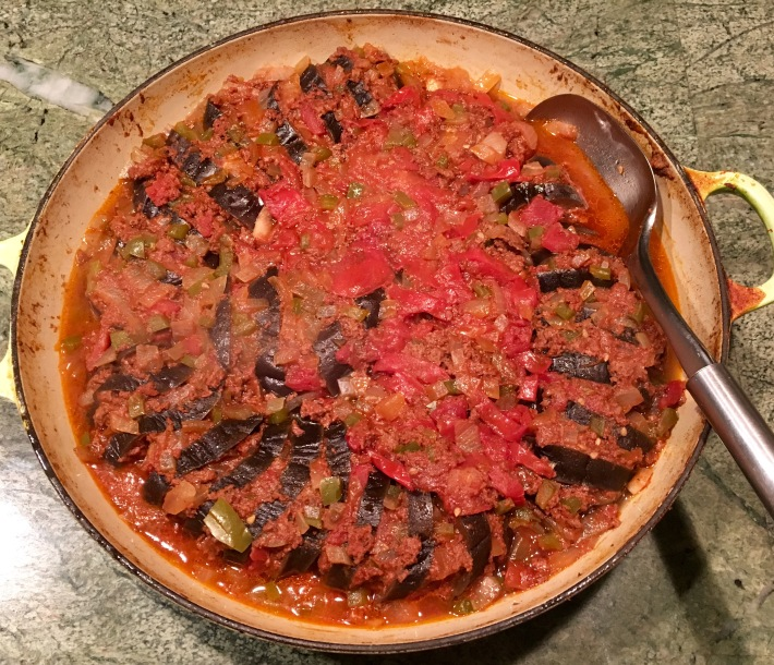Momma Anita's Ground Beef Stuffed Eggplant Casserole